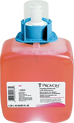 PROVON® Foaming Handwash Soap With Moisturizer, Cranberry, Refill, 1,250 ml., 3/Case