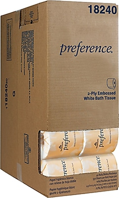 Preference 2-Ply Embossed Toilet Paper by GP PRO, White, 550 Sheets/Roll, 40 Rolls/Case (18240/01)