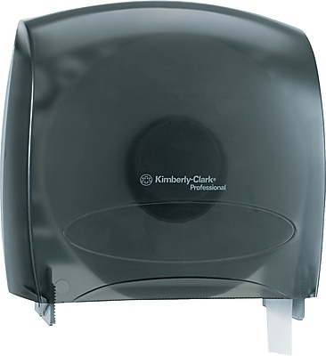 """""Kimberly-Clark In-Sight Plastic JRT Jr. Jumbo Tissue Dispenser, Smoke/Gray, 10.6""""""""(H) x 10.8""""""""(W)"""""" 812431"