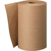 Scott® Hardwound Paper Towels, 1-Ply, Natural, 400 Feet/Roll, 12 Rolls/Carton (02021)
