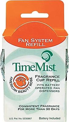 TimeMist Fan Fragrance Cup Refill, American Beauty Rose, Clear, 1 oz. Cup 805460