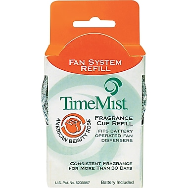 TimeMist Fan Fragrance Cup Refill, American Beauty Rose, Clear, 1 oz. Cup