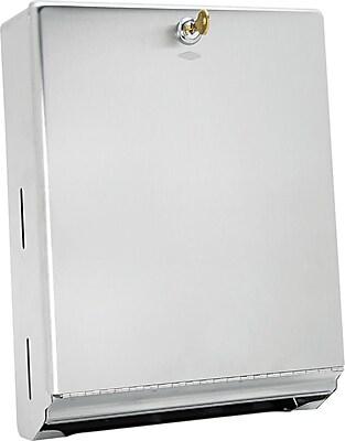 Bobrick Stainless Steel Dispenser, Satin, 14