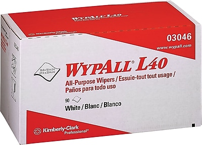 Wypall® L40 Wipers, White, 90/Bx
