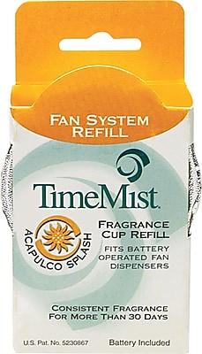 TimeMist Fan Fragrance Cup Refill, Acapulco Splash, Clear, 1 oz. Cup 563782