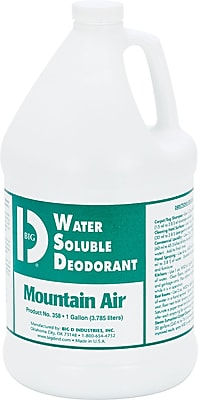 Big D Industries Deodorizer Water-Soluble Deodorant, Mountain Air, 1 Gallon, 4/Ct