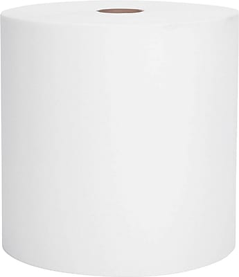 Kimberly-Clark Scott 1-Ply Recycled Hard Paper Towel Roll, White, 8