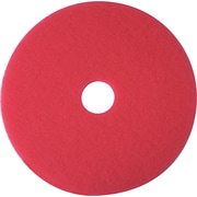 "3M Nylon / Polyester Fiber 5300 Cleaner Pad, Red, 12""(Dia)"