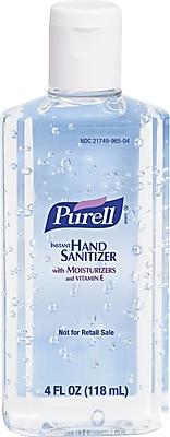 Purell® Instant Hand Sanitizer, Clear, 4 oz. Flip-Cap Bottle