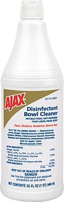 Ajax® EPA Disinfectant Bowl Cleaner, Unscented, 32 oz. Bottle