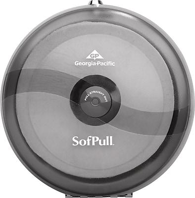 SofPull Centerpull Plastic Tissue Dispenser, Smoke/Gray, 10 1/2