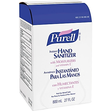 Purell Instant Hand Sanitizer, Unscented, Clear, 800 ml Refill, 6/Case