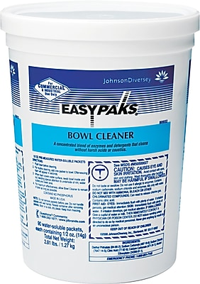 Easy Paks® Restroom Bowl Cleaner In Water Soluble Packets, .5 Oz., 90/Pk