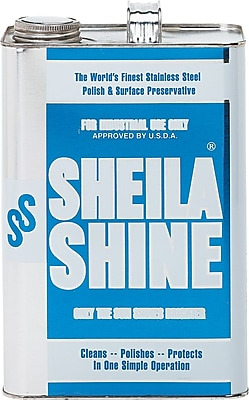 Sheila Shine® Stainless Steel Cleaner & Polish, Unscented, 1 gal