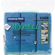Wypall® Microfiber Cloths with Microban®, Blue, 6/Pk
