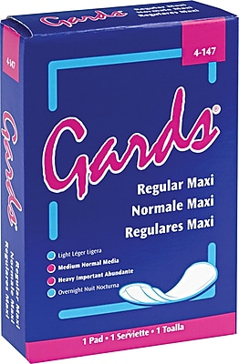Hospital Specialty #4 Gards Maxi Pad, 250/Ctn