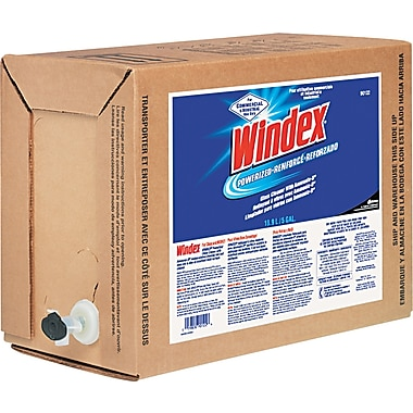 Windex® Powerized Formula Glass/Surface Cleaner, Unscented, 5 gal Bag-in-Box Dispenser