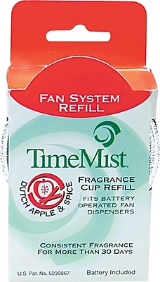 TimeMist Fan Fragrance Cup Refill, Dutch Apple & Spice, Clear, 1 oz. Cup 563796