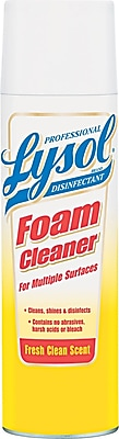 Professional Lysol® Disinfectant Foam Cleaner, Aerosol, Fresh Clean Scent, 24 oz., 12/Carton (02775)