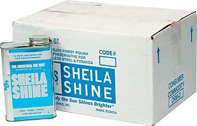 Sheila Shine Stainless Steel Cleaner & Polish, 32 Oz., 12/Ct