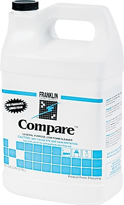 Franklin Cleaning Technology Compare™ Cleaner, Herbal Fresh, 1 gal Bottle, 4/Ctn