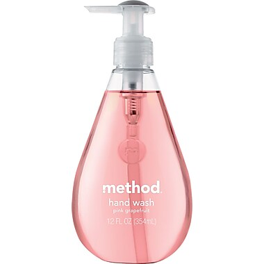 Method® Handwash Soap, Pink Grapefruit, Pink, 12 oz.