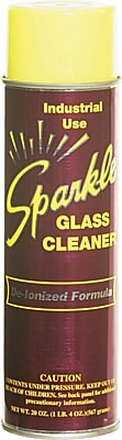 Sparkle Glass Cleaner, Unscented, 20 oz. Aerosol Can