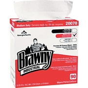 Brawny® Industrial Medium-Duty Premium DRC Wipes, 90 Wipes/Box