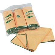 WypAll* Microfiber Cloths with Microban® Protection, Dry Wipes, Yellow, 6/Roll (KCC 83610)