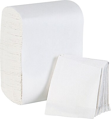 Dixie Basic® Low-Fold 1-Ply Napkin Dispenser Refill by GP PRO, White, 250 Napkins/Pack, 32 Packs/Case (39202)