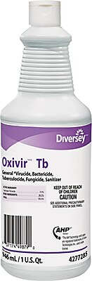 Diversey Oxivir TB One-Step DisinfeCountant Cleaner, 32 oz., 12/Case (4277285)