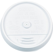 Dart ® Plastic Sip-Thru Lid for 16 oz. Hot/Cold Foam Cups, White, 1000/Carton