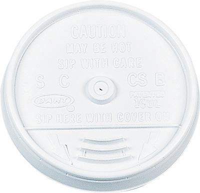 Dart Plastic Lids, For 16oz Hot/cold Foam Cups, Sip-Thru Lid, White, 1,000/Carton