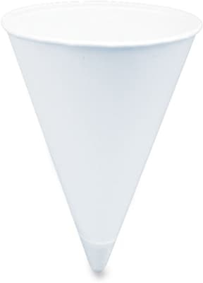 Solo  Cone Shaped Paper Water Cup, 4 oz., White, 5000/Carton 815468