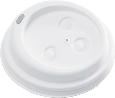 NatureHouse Drink-thru Hot Cups Lid for 10 - 20 oz. Hot Cups, White, 50/Pack SVARP11