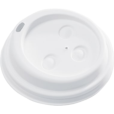 NatureHouse® Drink-thru Hot Cups Lid for 10 - 20 oz. Hot Cups, White, 50/Pack