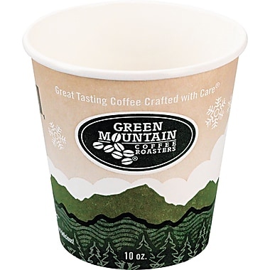 Green Mountain Coffee Roasters® Eco-Friendly Paper Hot Cup, 10 oz., 1000/Carton