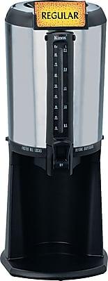 Hormel Thermal Gravity Beverage Dispenser, 2.5 Liters, Black, Stainless Steel