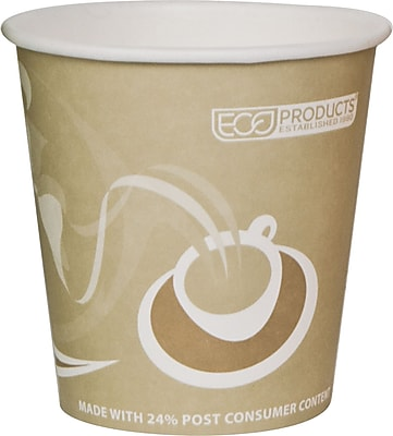Eco-Products® Evolution World™ 24% PCF Hot Drink Cup, 10 oz., Tan, 1000/Carton