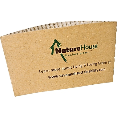 NatureHouse® 50/Pack Kraft Unbleached Paper Hot Cup Sleeves