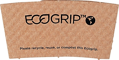 Eco-Products EcoGrip Recycled Content Paper Hot Cup Sleeve for 12 - 24 oz. Cups, Kraft, 1,300/Ct (EPXEG2000) 806543