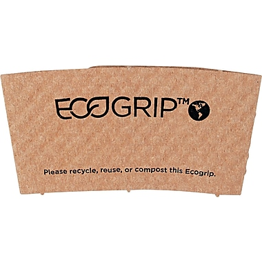 Eco-Products ® EcoGrip ® Recycled Content Paper Hot Cup Sleeve for 12 - 24 oz. Cups, Kraft, 1300/CTN