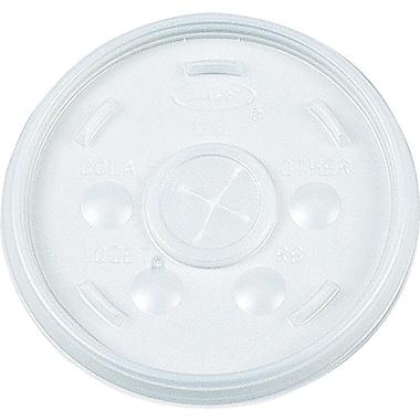 Dart ® Plastic Sip-Thru Lid for 12 oz. Cold Foam Cups, Translucent, 1000/Carton