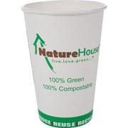 NatureHouse® Paper/PLA Corn Plastic Hot Cup, 16 oz., 50/Pack