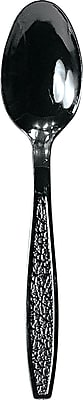 Solo Guildware Extra Heavyweight Plastic Teaspoon, Black, 1000/Carton 818884