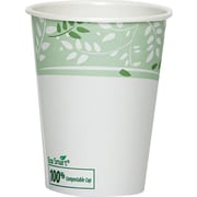 Dixie® Viridian™ Paper Hot Cup with PLA lining, 8 oz., White/Green, 1000/Carton