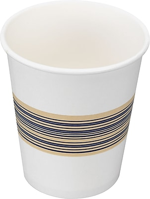 Boardwalk Paper Hot Cup, 8 oz., Blue/Tan, 1000/Carton BWK8HOTCUP