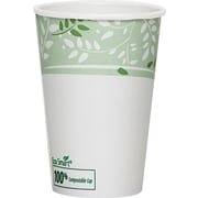 Dixie® Viridian™ Paper Hot Cup with PLA lining, 16 oz., White/Green, 1000/Carton