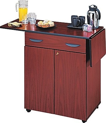 Safco ® 2 Door Hospitality Service Cart, 1 Shelf, 38 3/4