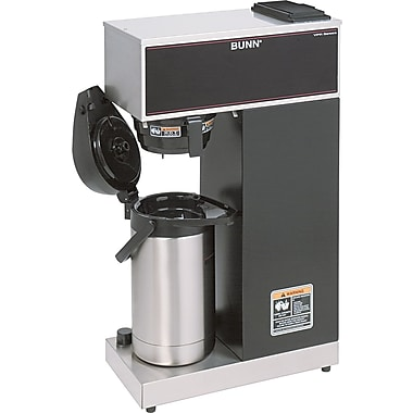 Bunn® Pour-Over Airpot 1 Burner Coffee Brewer with Black Accents, 3.8 gal, Stainless Steel